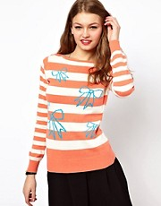 Bow and Stripe Jumper