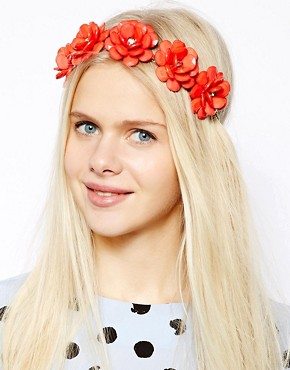 Image 1 of River Island Retro Summer Flower Stretch Headband