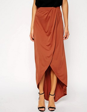 Image 4 of ASOS Wrap Maxi Skirt in Crepe
