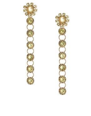 ASOS Flower Linked Drop Earring
