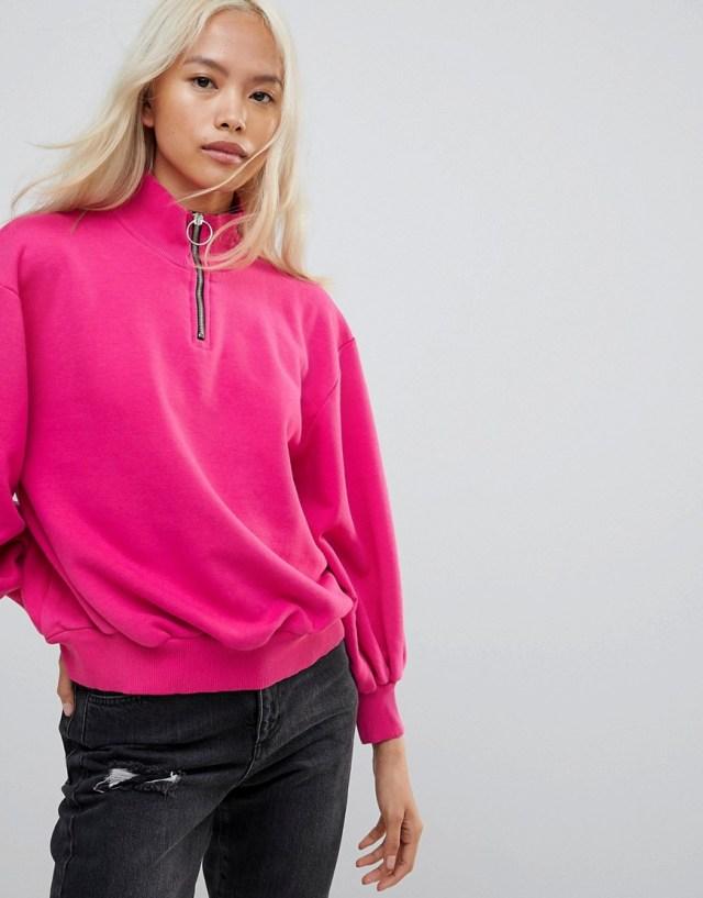Chorus Zippy Puller Funnel Neck Sweatshirts, $60
