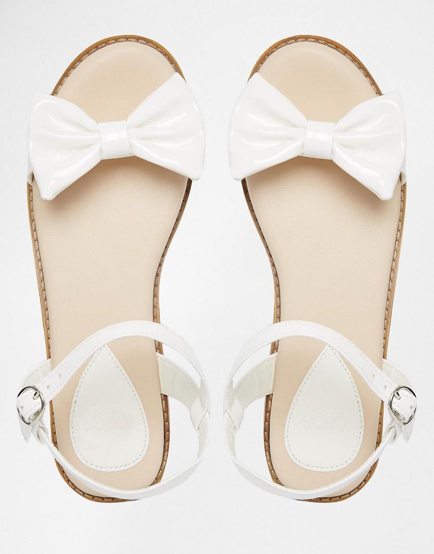 Image 3 ofASOS FUN DAYS Two Part Bow Sandals