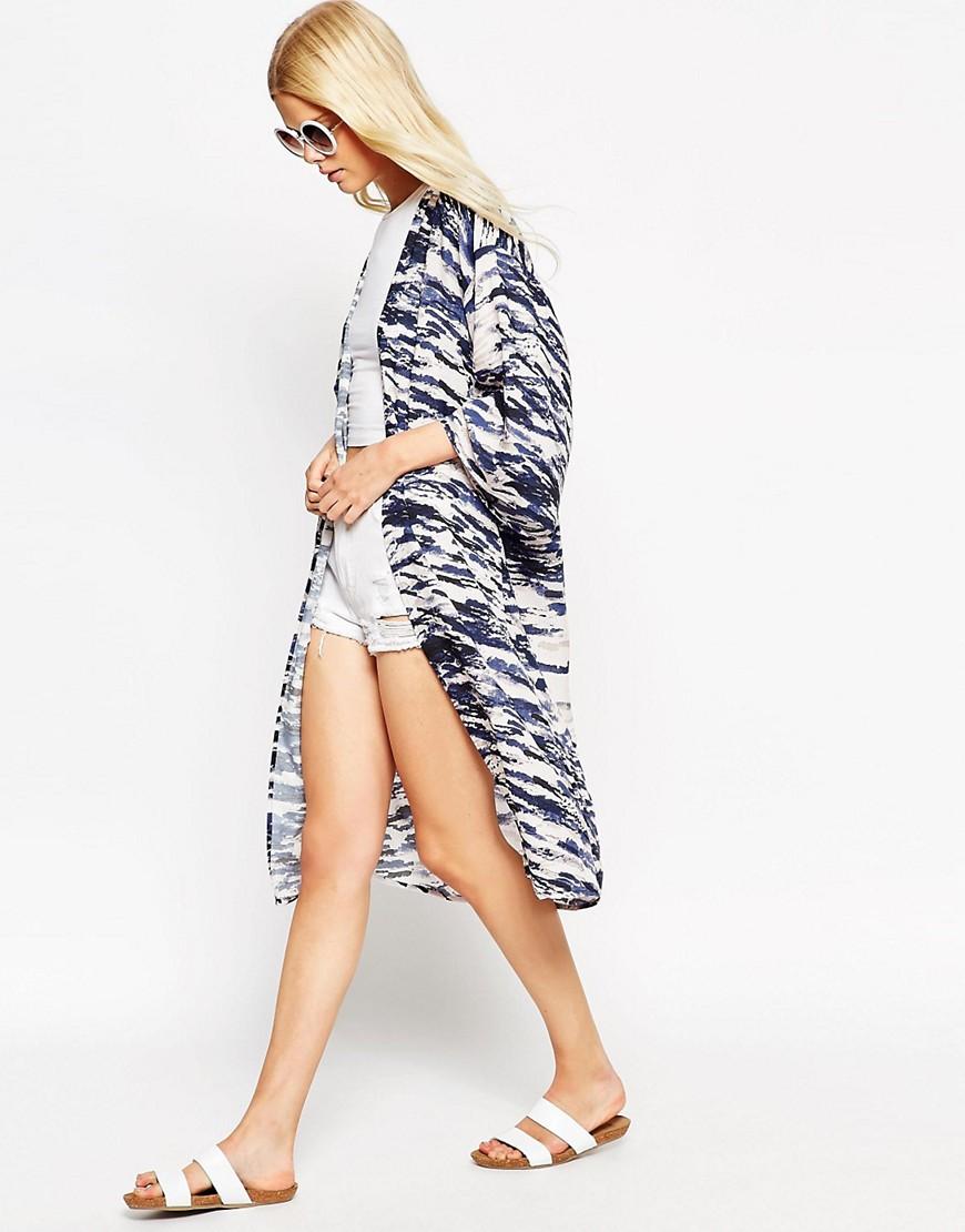 Изображение 4 из Длинный пиджак с рукавами‑кимоно Textile Federation for ASOS