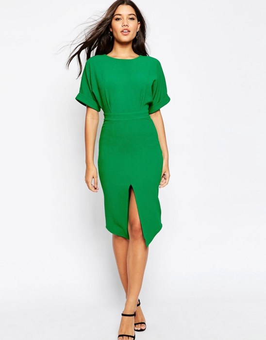 Asos pepper green dress for Work in Progress August lust list
