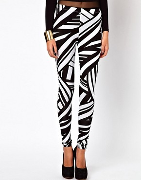 Image 4 of ASOS Leggings in Tribal Print