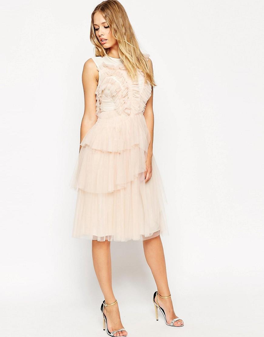 Image 1 ofNeedle & Thread Tulle Frill Midi Dress