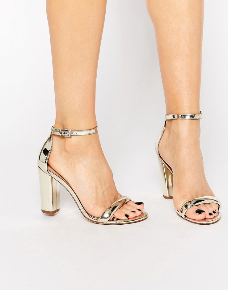 ALDO Cicci Gold Block Kitten heel Sandals