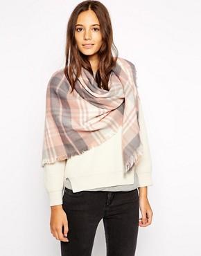 Image 1 ofEsprit Cosy Tartan Oversized Blanket Scarf
