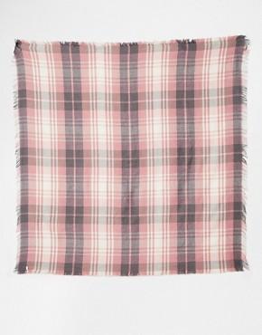 Image 2 ofEsprit Cosy Tartan Oversized Blanket Scarf