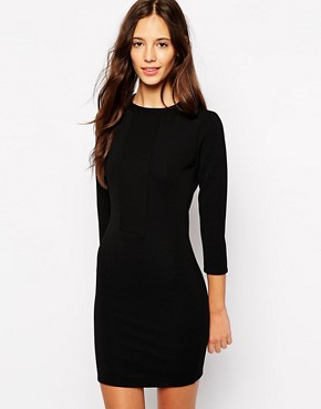 Image 1 of Pull&Bear Ribbed Mini Dress