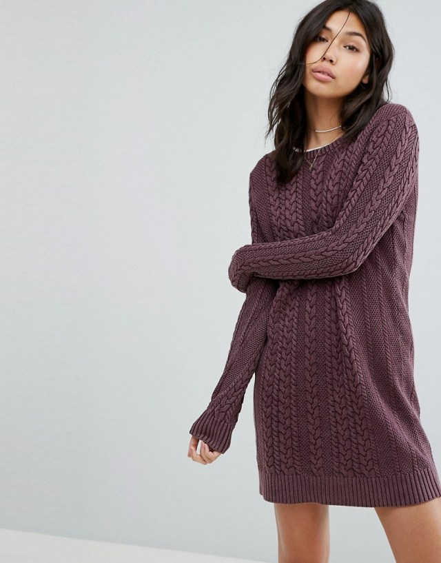 Abercrombie & Fitch Cable Knit Sweater Dress, $88