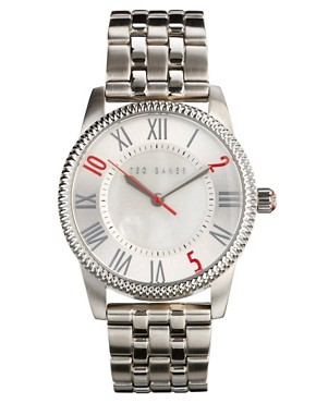 Image 1 of Ted Baker Ten To Two Silver Watch