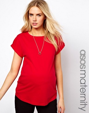 Image 1 of ASOS Maternity Boyfriend T-Shirt
