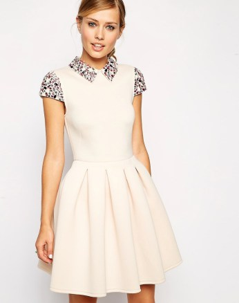 Embellished Collar Prom Dress £60