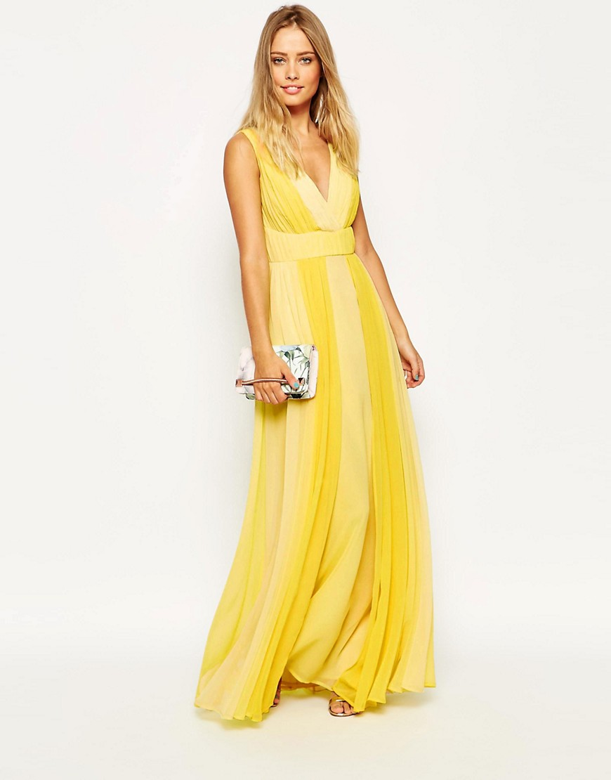 Image 4 of ASOS Ombre Cross Front Maxi Dress
