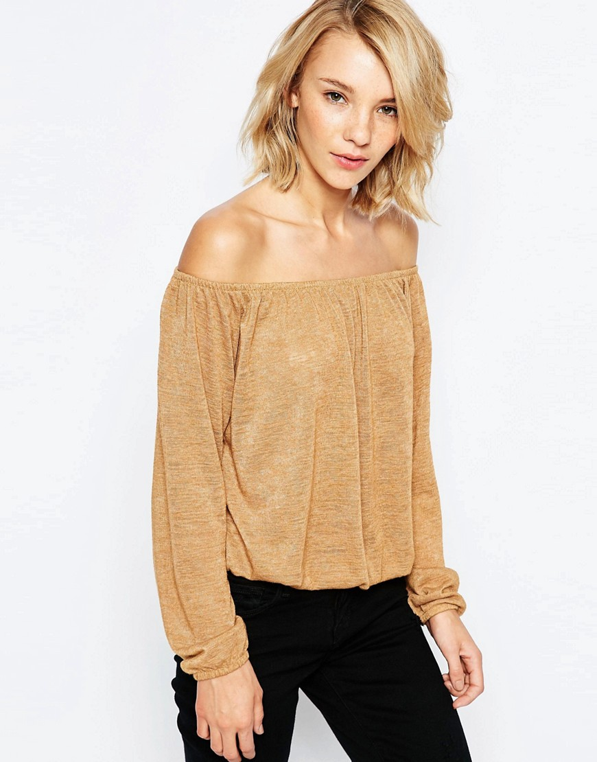 Image 1 of JDY Off The Shoulder Cropped Top