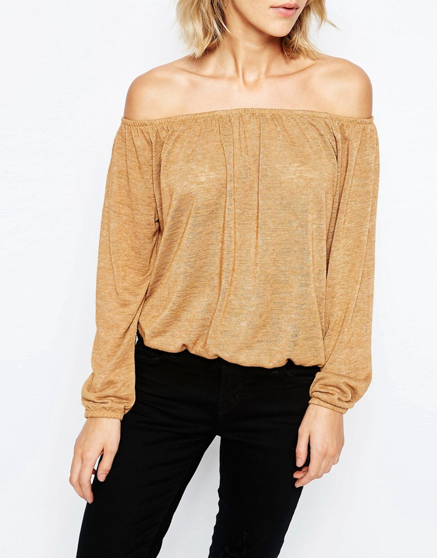 Image 3 of JDY Off The Shoulder Cropped Top