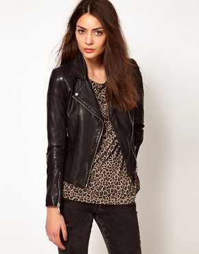 Image 1 of Whistles Mila Leather Jacket