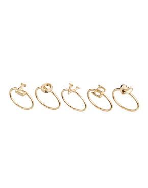 Image 1 - ASOS - Bagues bout de doigt motif cœur avec lettres formant le mot « Love »