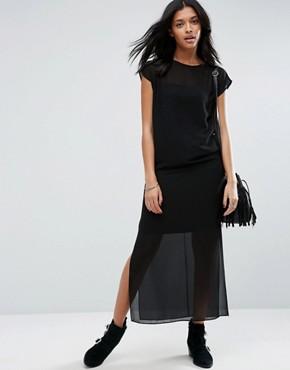 robe longue transparente asos