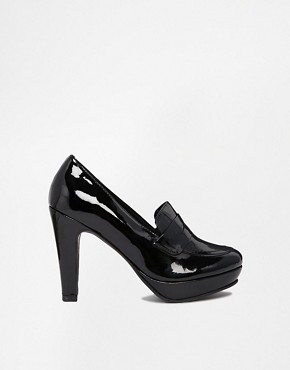 Gardenia Patent Leather Heeled Loafers - Vernis black preto