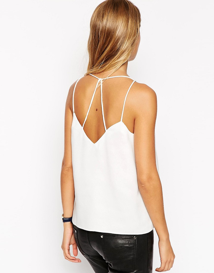 Image 1 of ASOS Plunge Neck Strappy Cami Top