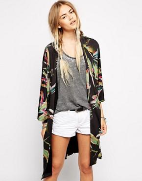 ASOS Maxi Kimono in Bold Floral Print