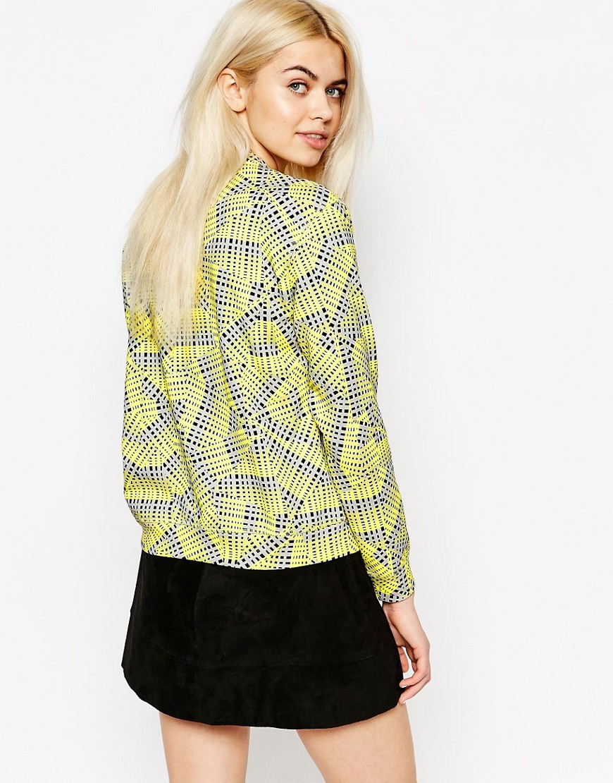 Image 2 of Monki Grid Sweat