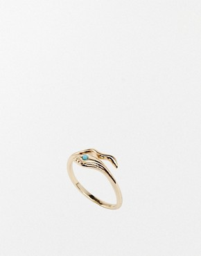 Image 1 of Orelia Wunderlust Open Snake Ring