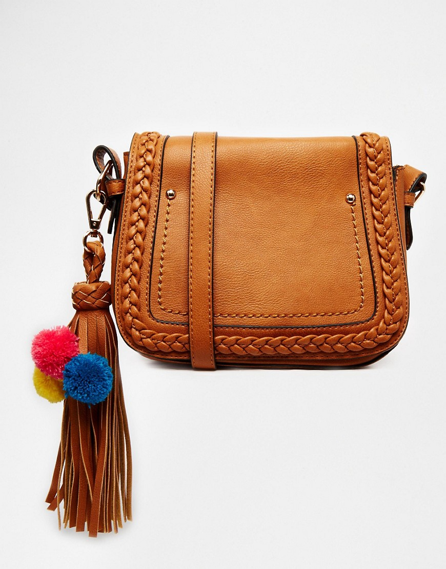 Image 1 of ALDO Crossbody with Braided Flap and Tassel