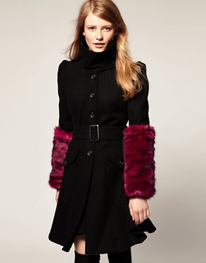 Image 1 ofASOS Faux Fur Long Cuffs