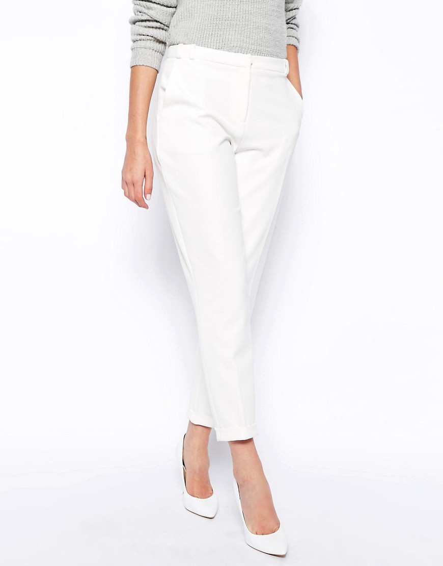 Image 4 of ASOS Trousers in Slim Leg with Turnup