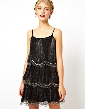 Image 1 of Frock and Frill Embellished Tiered Cami Dress