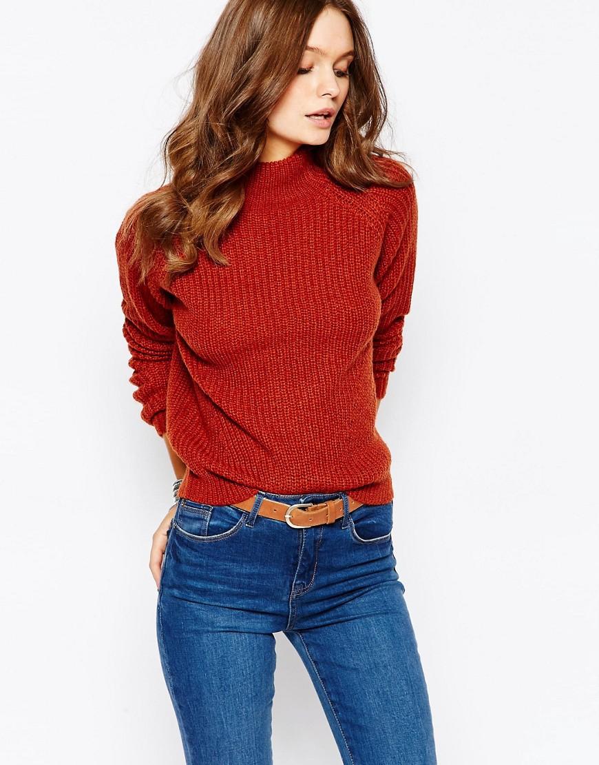 Bild 1 von New Look – Pullover mit Patentmuster und hohem Kragen