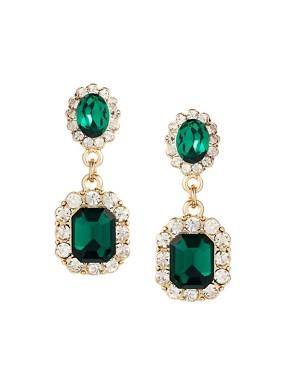 Image 1 ofASOS Vintage Look Jewel Earrings