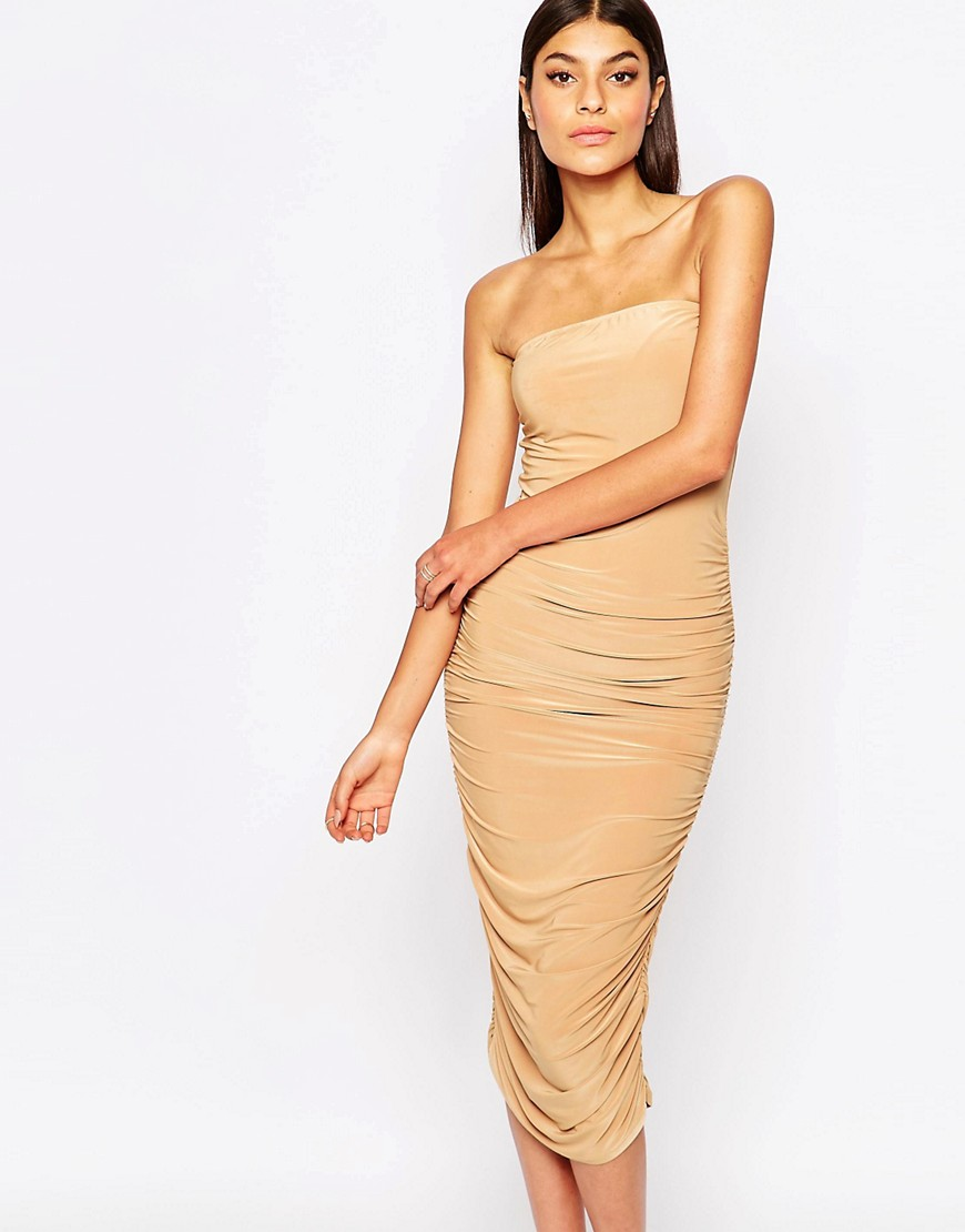 Image 1 of Club L Bandeau Midi Pencil Dress