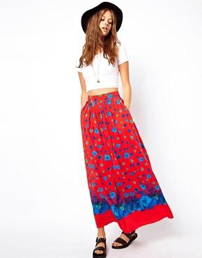 Falda larga con estampado floral de ASOS