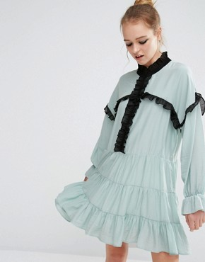 Resultado de imagen de Sister Jane Ruffle Detail Smock Dress