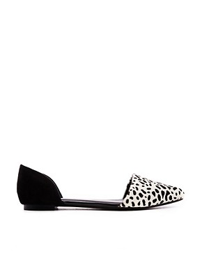 Image 1 of ASOS LITTLE ROCK Pony Ballet Flats