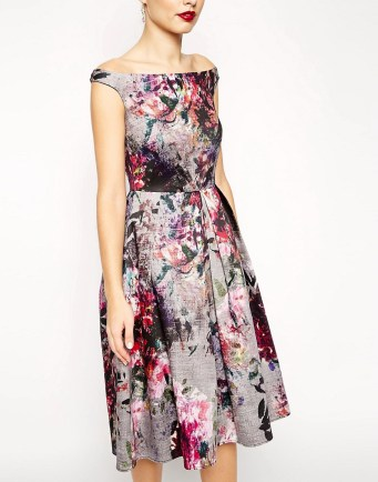 Beautiful Floral Printed Midi Prom Dress £85