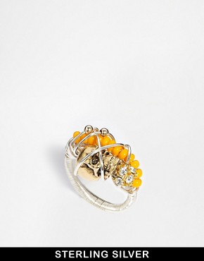 Image 1 of Kat & Bee Tribeca Sterling Silver Bead & Wire Ring
