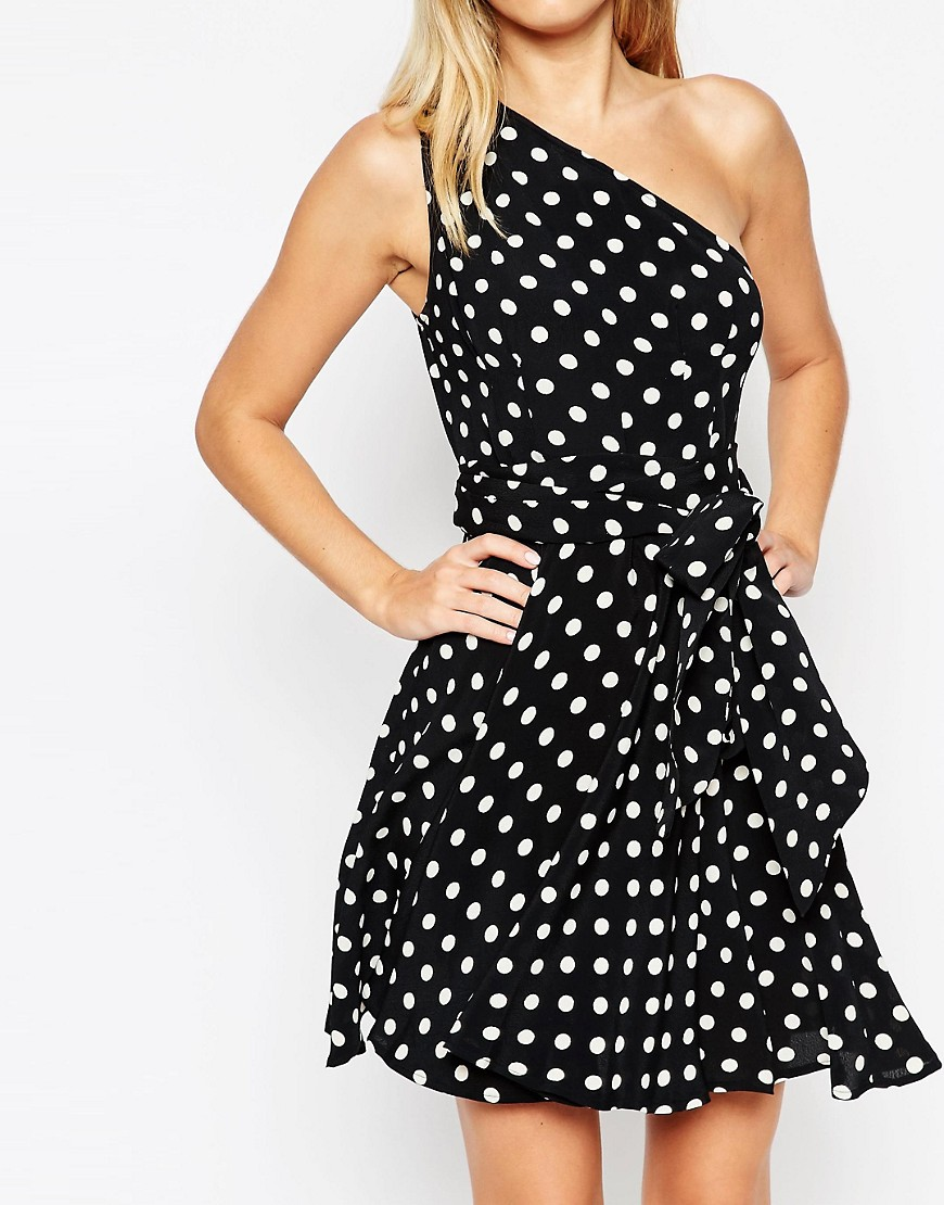 Image 3 of ASOS One Shoulder Spot Mini Dress