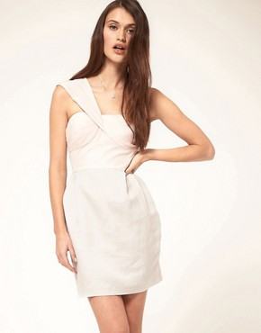 ASOS One Shoulder Dress with Pencil Skirt