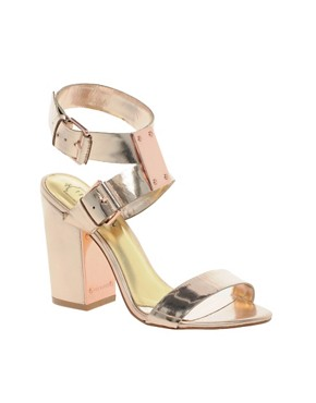 Image 1 ofTed Baker Lissome Metallic Strap Sandals