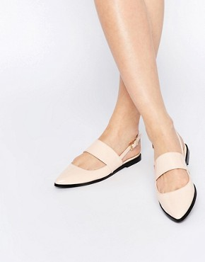 ASOS MOTION Pointed Flat Shoes