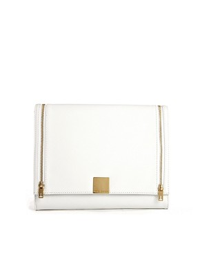 Image 1 of Ted Baker Cross Hatch Clutch