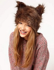 ASOS Fur Ears Cossack Hat