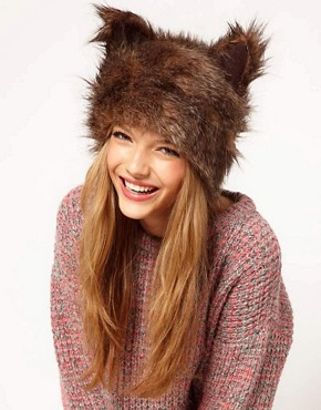 Image 1 of ASOS Fur Ears Cossack Hat