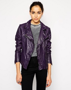 Muubaa Pola Leather Biker Jacket