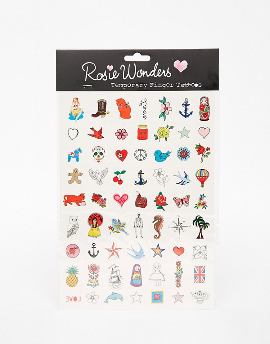 Image 1 of Rosie Wonders Finger Temporary Tattoos cheap gift ideas for teen girls